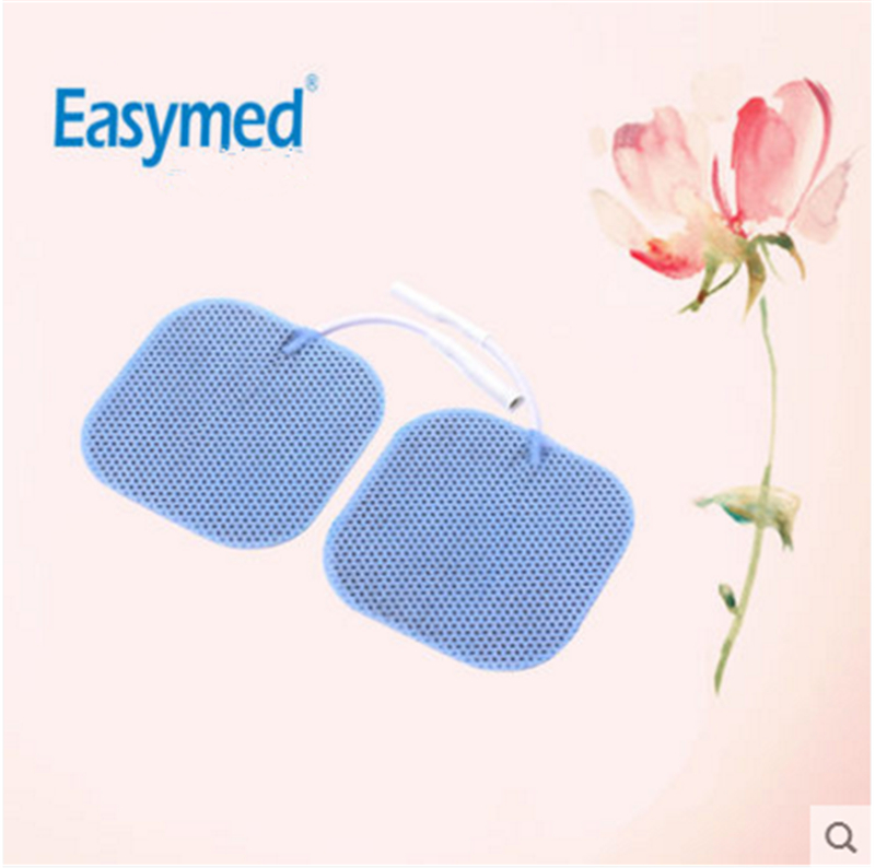 Easymed: 2017 Hot Electrode Patch For Home Physiotherapy Accessories Silicone Adhesive Sheet Multi-functional Patch 50pairs lot emergency supplies ecg defibrillation electrode patch prompt aed defibrillator trainer accessories not for clinical