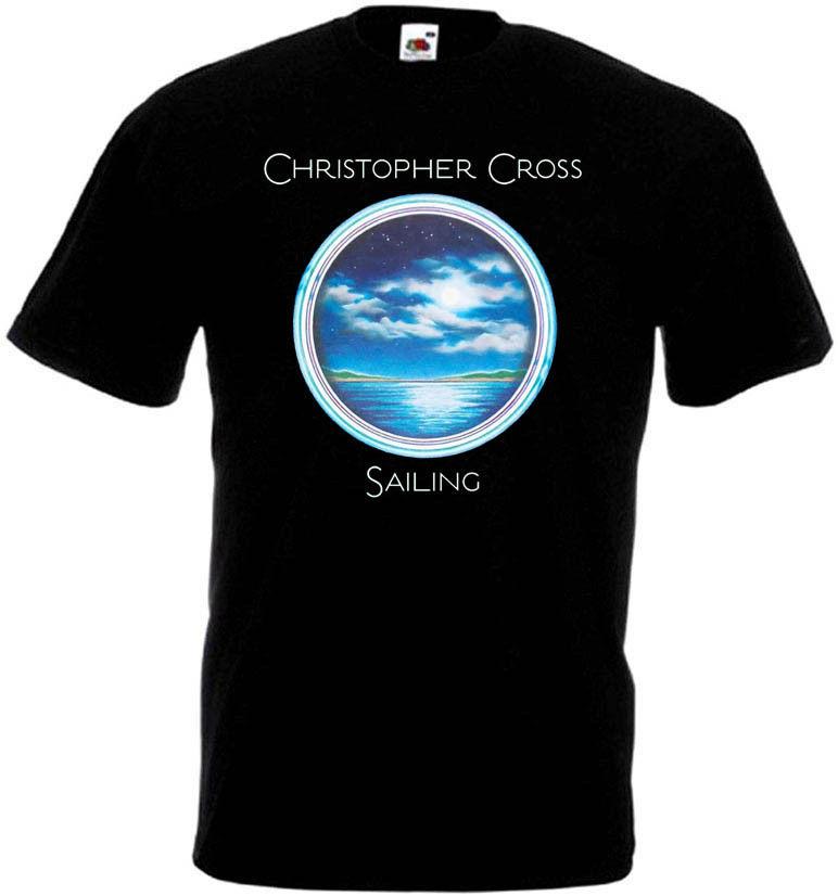Christopher Cross Sailing Men Tshirt Hip Hop Clothing Tshirts 3D Print Tee Shirt Black Of White T-Shirts Black Top