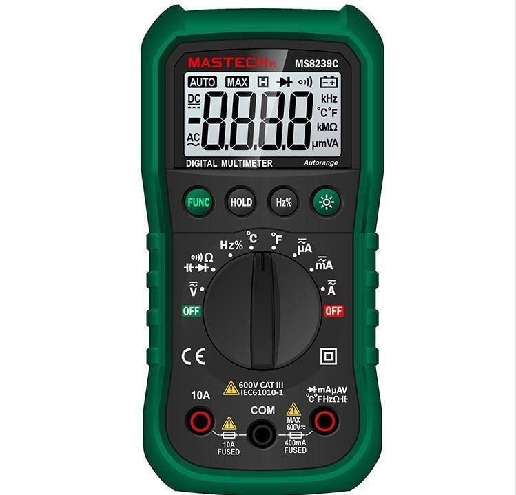 Mastech Auto range Handheld 3 3/4 Digital Multimeter MS8239C AC DC Voltage Current Capacitance Frequency Temperature Tester  цены