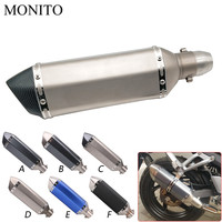 Universal Motorcycle Akrapovic Exhaust Dirt Bike Escape Modified Exhaust For YAMAHA tdm 850 mt125 mt03 mt01 mt 125 03 01 xt660