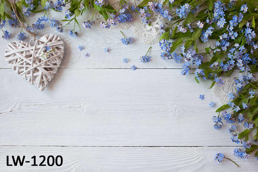 HUAYI bois planche toile de fond photocall photophone fleurs sur planche de bois vintage photo arrière-plan photo cabine Studio accessoires