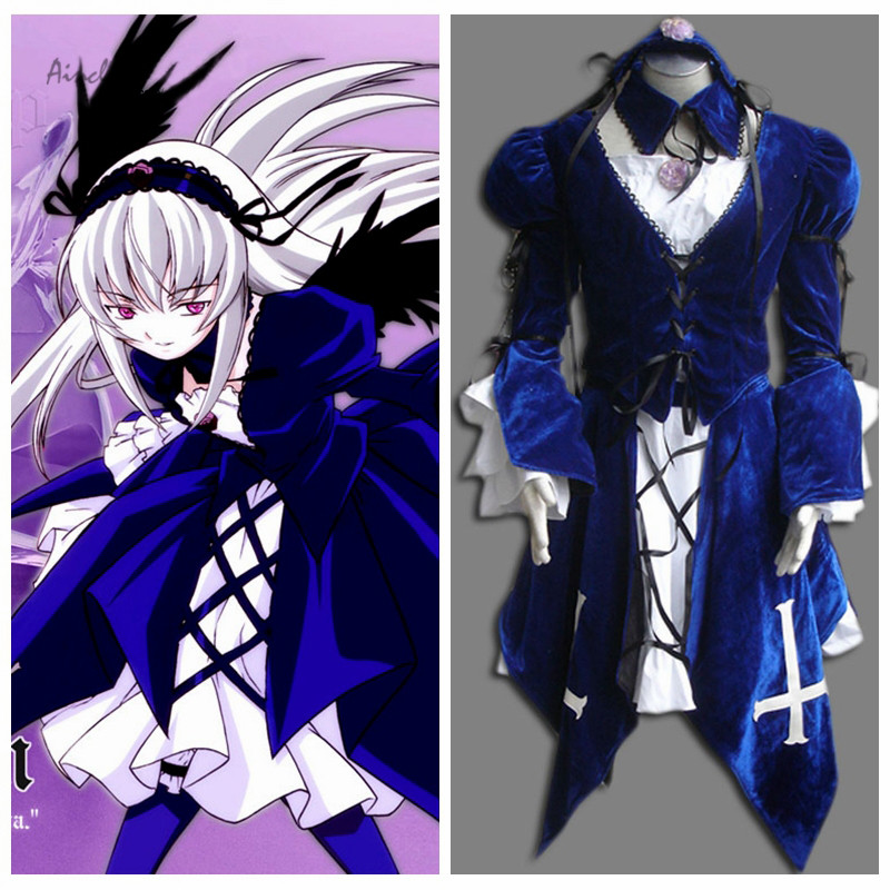 Ainclu Customize Free shipping Costume Rozen Maiden Anime Suigintou Halloween Cosplay For Kid Costume and Adult Costume