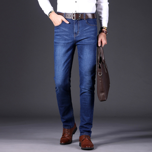 Image 3 - Autumn Winter Fashion Men Jeans New Famous Brand Stretch Mens Jeans Pants Business Casual Skinny Denim Trousers Mens Size 28 40