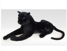 stuffed animal 100cm plush lying black leopard toy panther doll great gift free shipping w085