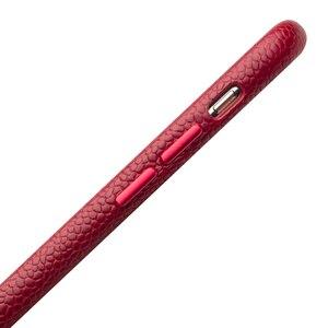 Image 3 - QIALINO ультра тонкая задняя крышка из натуральной кожи для Appole iPhone XR роскошный ручной работы Тонкий чехол для телефона для iPhone XR 6,1 дюймов