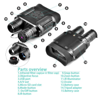 Digital Night Vision Binoculars Viewing Range Super Large