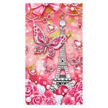Алмазная живопись, Цветная Любовь, форма EiffelTower, цветок, узор крестиком, алмазная вышивка, вышивка крестиком, мозаика, стразы, декор F3