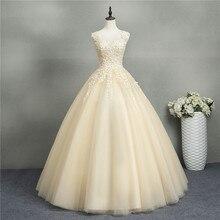 ZJ8076 Baljurken Sweetheart Wit Ivoor Tulle Champagne Trouwjurken 2019 Met Parels Bridal Dress Plus Size 2 26W