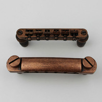Guitar Stop Bar Tailpiece with Anchors +Tune O Matic BM002 Studs Bronze color for LP SG Guitars