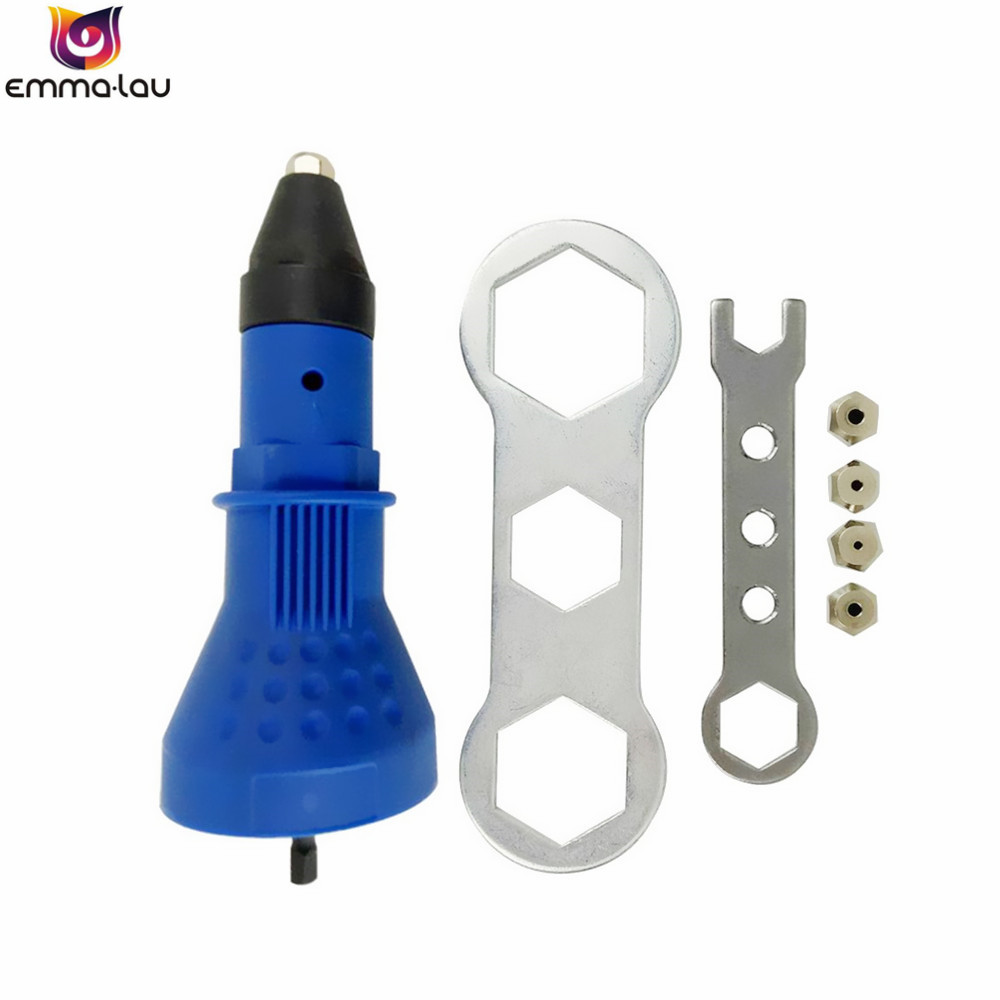 Electric Rivet Nut Gun Riveting Demel Tools Cordless Riveting Drill Adaptor Insert Nut Tools Power Machine Accessories electric rivet nut gun cordless riveting