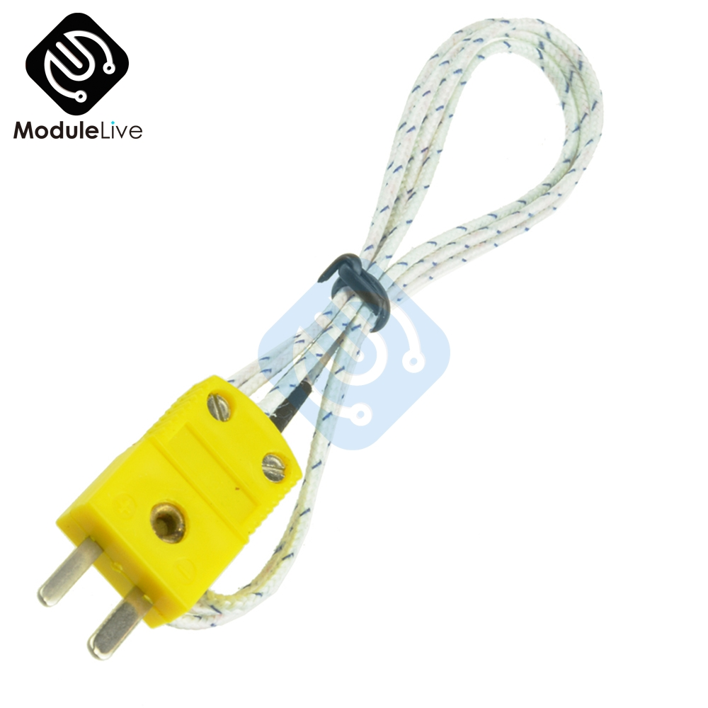 1M 100CM K Type Thermocouple Temperature Measuring Probe Sensor Cable Wire K-Type For Thermometer