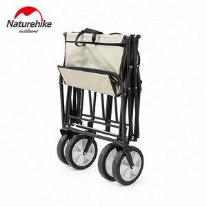 Image 3 - Naturehike Folding 90L Large Capacity Wheelbarrow Ultralight Portable Trolley Camping Outdoor Pull Rod Car Camping Picnic Travel