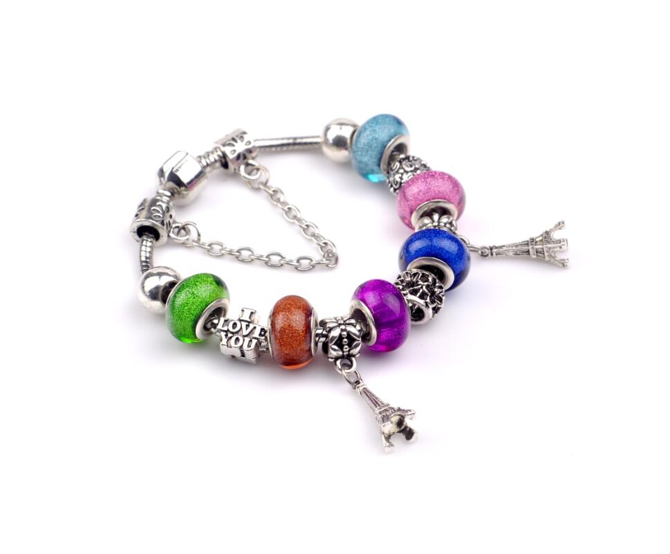 aliexpress hot sale kpop ethnic eiffel tower pendant colorful beads christmas xmas new year gift for