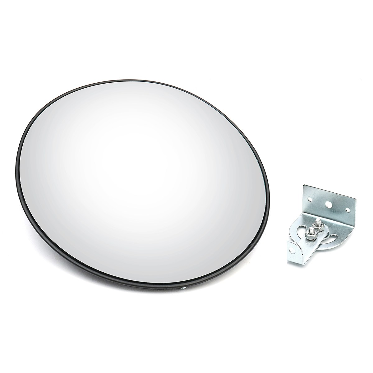 Safurance 30cm Wide Angle Curved Convex Security Road Mirror For Indoor Burglar Traffic Signal Roadway Safety