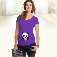 2018 Funny Design peek-a-boo Maternity Shirt specialized for pregnant women plus size European big size pregnancy clothes