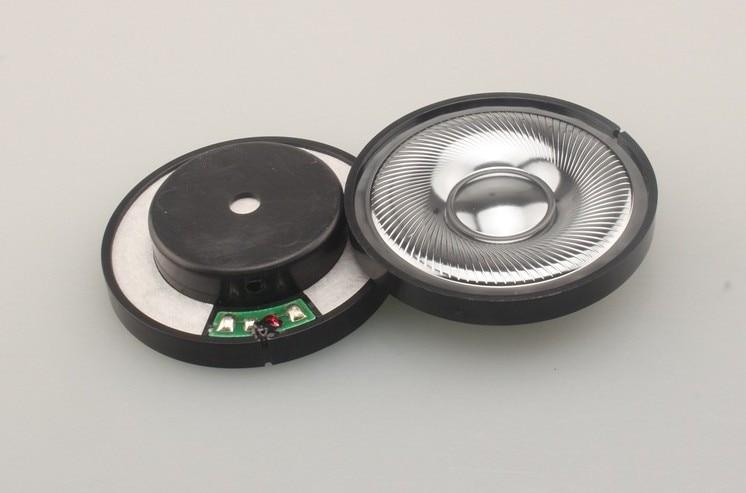 Beryllium film headset speaker hifi fever diy 50mm speaker unit 1pair=2pcs iwistao hifi speaker empty cabinet kits labyrinth structure with high density fibreboard for 2 54 inches full range spk unit diy