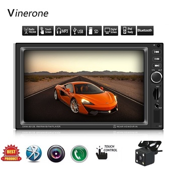 7 Inch Touch Screen Car Radio 2 Din  In Dash Auto Car audio Player Stereo bluetooth USB SD MP3 Rear View Camera autoradio 2din