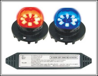 Higher star DC12V,10W Led Hideaway warning lights,police emergency lights,car grill strobe lights,23 flash,waterproof,2pcs/1lot