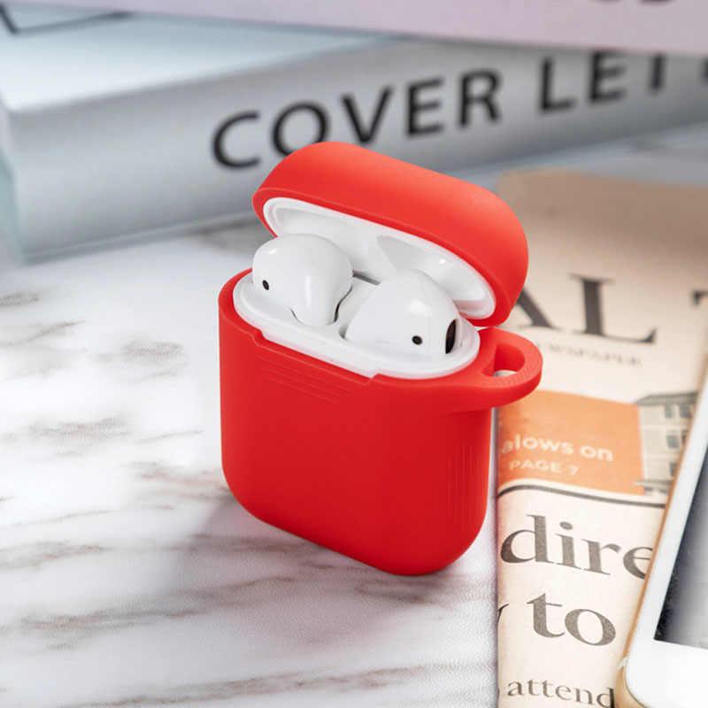 1 sztuk TPU silikonowe Bluetooth bezprzewodowe etui na słuchawki do etui ochronne na słuchawki airpods akcesoria skóry dla apple airpods etui z funkcją ładowania
