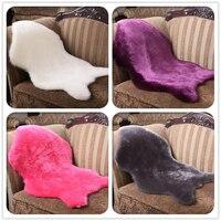 Faux Sheepskin Rug Mat Carpet Soft Fluffy Plush Chair Cover Bedroom Pad Anti Slip Chair Sofa
