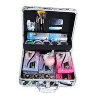 E 04Professional Portable Delure Beauty Grafting Eyelash Extension Kit False Eyelash Lashes Makeup Set with Silver Box Case