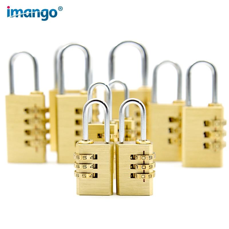 High Quality Copper Cipher Lock Bags Secret Code Password Locks Gym Dedicated Travel Outdoor Tent Cabinet Drawer Metal Padlock