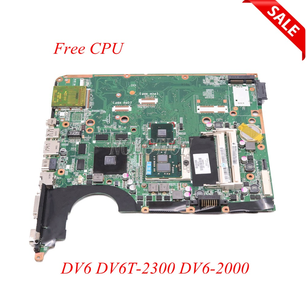 NOKOTION Laptop Motherboard For HP Pavilion DV6 DV6T-2300 DV6-2000 580975-001 DA0UP6MB6F0 PM55 DDR3 GT230M Main board Free CPU nokotion 578377 001 for hp pavilion dv6 dv6 1000 laptop motherboard pm45 ddr3 free cpu dsicrete graphics