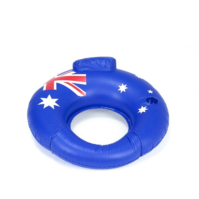Ec O Road Inflatable Sofa Australia Flag Pattern Drifting Swim Ring Two Chamber Design Free Shipping