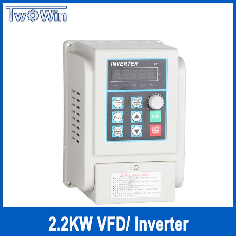цена на 1.5KW/2.2KW AC Frequency Converter 220V 1.5KW Variable Frequency Drive Converter VFD Speed Controller Converter