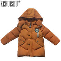 KERUISHU Baby Winter Warm Coats Kids Boy Girl Children Warm Hooded Cold-proof Overcoat  Padded  Thermal Snowsuit  Clothes 12M-4T