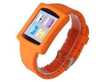 Orange Silicone Wrist Watch Band Strap Case for iPod Nano 6th Gen Mp3 Player