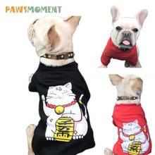 NEW Lucky Cat Pattern Dog Clothes Costume For Small Dogs French Bulldog Cotton Coat Outfit For  sc 1 st  AliExpress.com & Buy lucky cat costume and get free shipping on AliExpress.com
