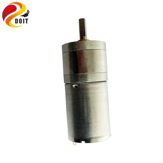 DOIT CGM-25GA-370 12V DC Motor 320rpm phi 4mm Deceleration Motor High Torque Motor for Tank Car Chassis Robot Toy Part