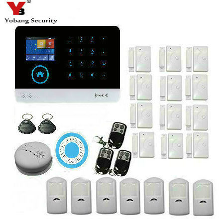 Yobang Sicherheit Wireless Wifi & Gsm Smart Home Alarm Mit Wireless Indoor Sirene Pir Motion Sensor Ip Kamera Sensor Rauch Detektor SorgfäLtige Berechnung Und Strikte Budgetierung Alarm System Kits