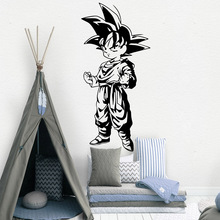 Cartoon Goku Decal Removable Wall Art Decal Poster For Kids Rooms Decoration Bedroom Wall Vinyl Mural Decal adesivo de parede цена