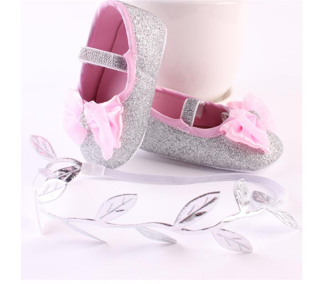 Puseky Fashion Baby Girl Shoes Hot Girl First Walkers Gold Bling Baby girl  shoes With Big 982219690363