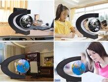 LED Floating Tellurion C Shape Magnetic Levitation Floating Globe World Map