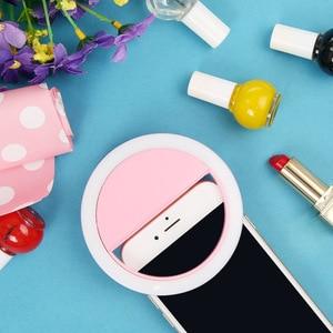 Image 2 - Taşınabilir mini cep telefonu LED retardateur flaş lens güzellik dolgu ışığı zamanlayıcı için akıllı telefon Selfie remplir la lumière
