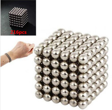 216pcs Silver Color Magic Cube Balls Toys For Autism and antistress free shipping