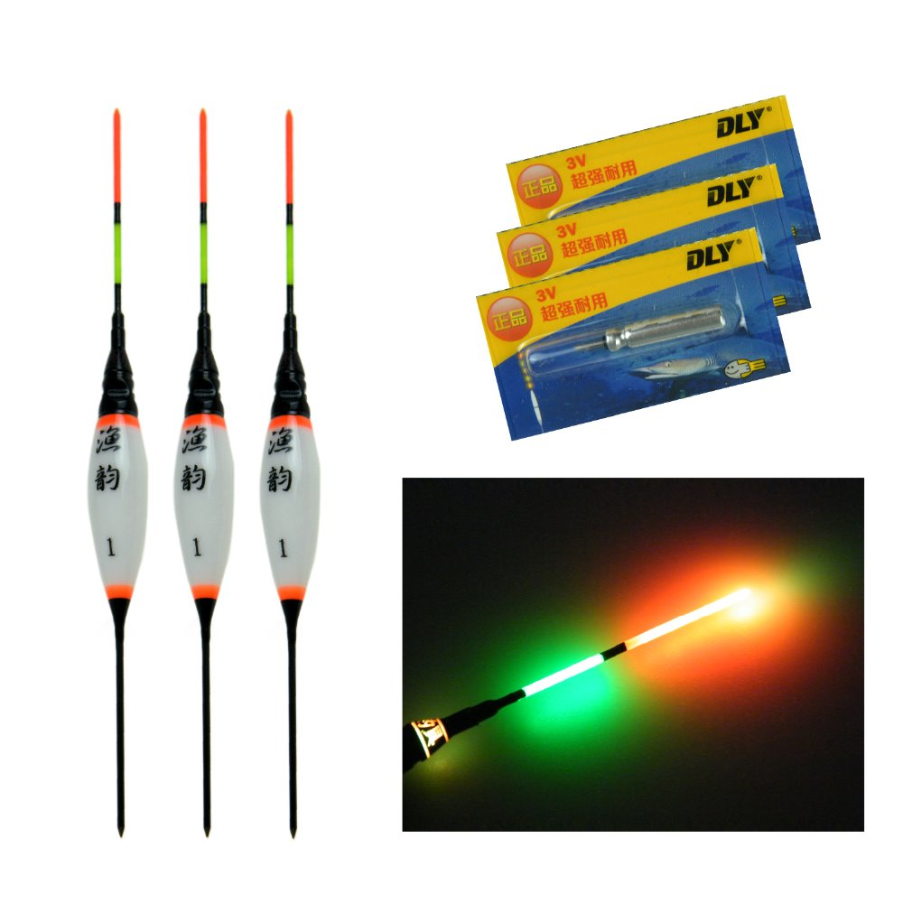 3 Pcs 0.8g 1.3g 1.8g Electronic <font><b>LED</b></font> <font><b>Fishing</b></font> <font><b>Floats</b></font> Buoyancy With Battery Carp <font><b>Fishing</b></font> Night Light Luminous Floating <font><b>Float</b></font> Bobber