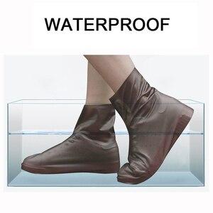 Image 2 - Нескользящие многоразовые Чехлы для обуви из ТПУ водонепроницаемые резиновые сапоги обувь унисекс аксессуары для дождя