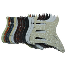 Dopro 11 agujero Vintage 62 Strat ST SSS Single Coil Pickups guitarra Pickguard Scratch Plate con tornillos para American Fender 62 ST