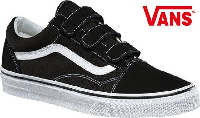 9092c767e2 Vans Original Old Skool V Classic Skateboarding Shoes Unisex Leisure Black  Canvas Shoes Women s and Men s