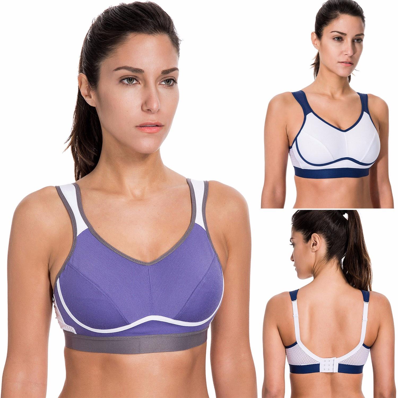 La Isla Women S High Impact Supportive Control Wirefree Non Padded Sports Bra