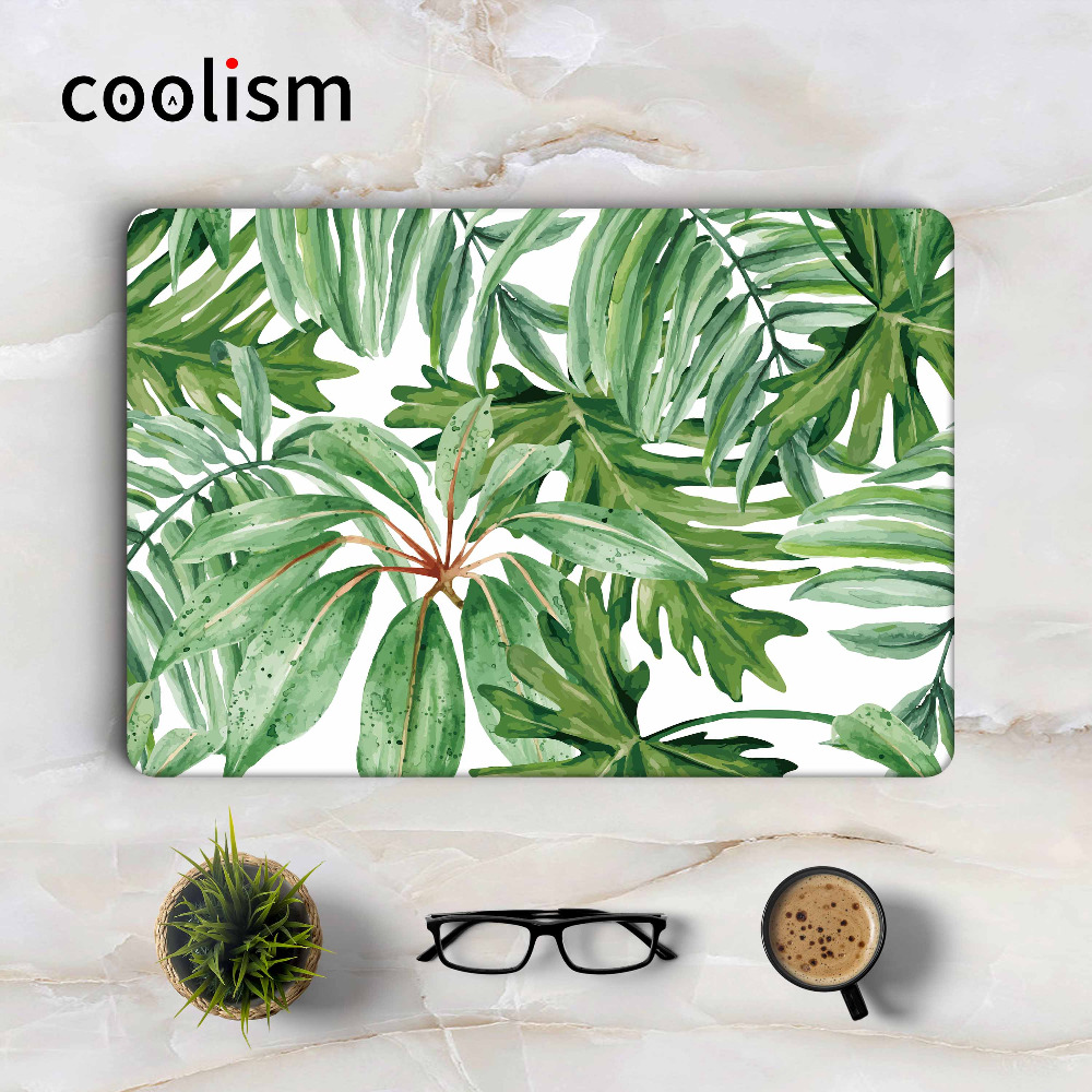 Green Leaf Painting Laptop Skin Sticker Decal for Macbook Sticker Pro Air Retina 11 12 13 15 inch Mac Protective Full Cover Skin