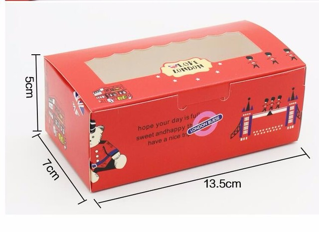 80pcs Small Christmas Cookie Packaging Cheese Mousse Cake roll Box Macaron Box Cake Chocolate Muffin Biscuits Box with window & Online Shop 80pcs Small Christmas Cookie Packaging Cheese Mousse ... Aboutintivar.Com