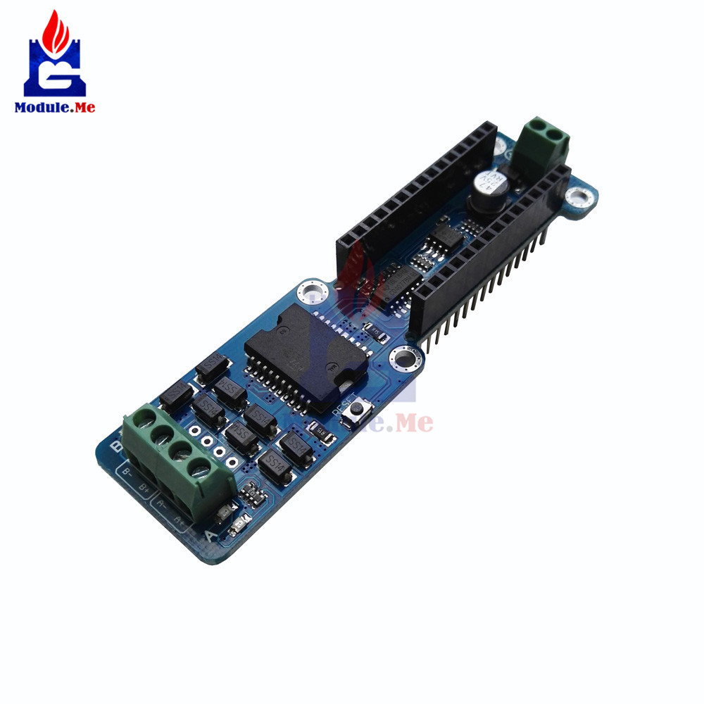 NANO-L298P L298P 2A Dual Channel DC Stepper Motor Driver Shield Module 5V-12V PWM DC Stepper Driver Module For Arduino Nano 3.0NANO-L298P L298P 2A Dual Channel DC Stepper Motor Driver Shield Module 5V-12V PWM DC Stepper Driver Module For Arduino Nano 3.0