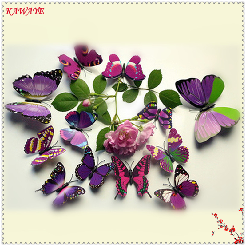 Home Decor Able 12 Pcs Set Beautiful Butterfly 3d Wall Stickers Romantic Wedding Wall Stickers Home Bedroom Decoration Cute Sofa Decal 7zdz275 We Take Customers As Our Gods