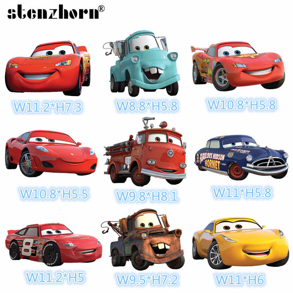 Cartoon Cars lightning mcqueen Patch Iron On Patches for Clothing Heat Transfers For Kids Child clothes Diy Ironing Stickers