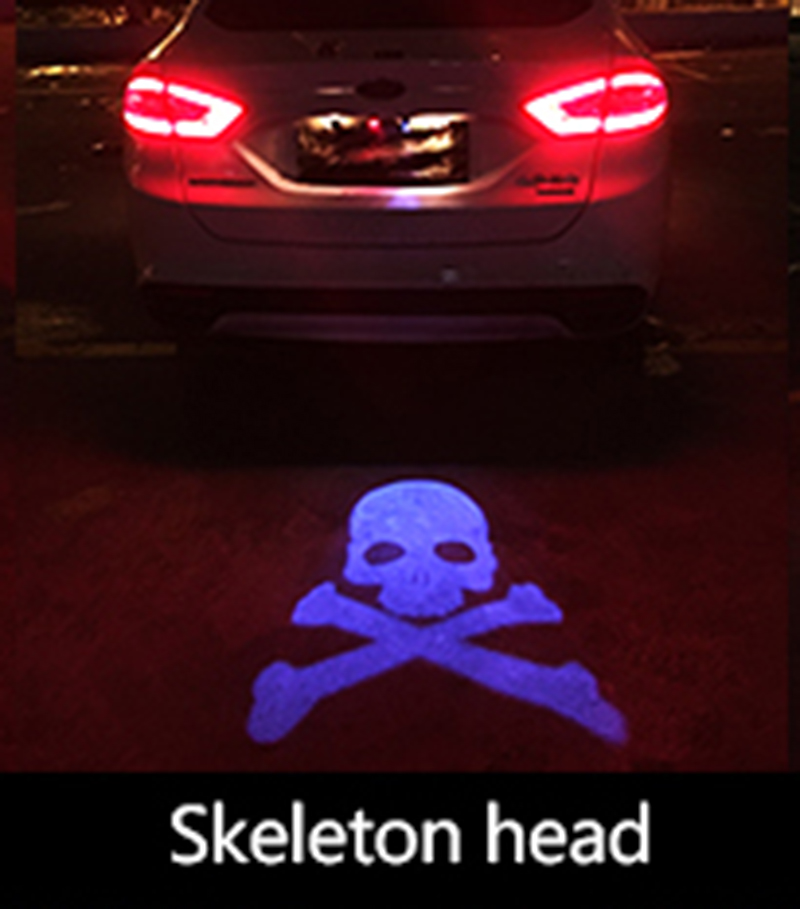 Car Laser Tail Logo Led Light Anti Collision Rear-end Fog Light Rearing Warning Light for Toyota Corolla RAV4 Camry free shippin